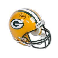 BRETT FAVRE Autographed Green Bay Packers Authentic Helmet UDA