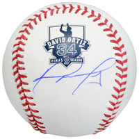DAVID ORTIZ Autographed Retirement Logo Baseball FANATICS