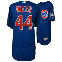 "ANTHONY RIZZO Signed / Inscribed ""2016 WS Champs"" Authentic Blue Jersey FANATICS"