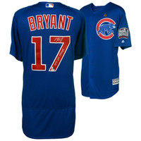 "KRIS BRYANT Signed / Inscribed ""2016 WS Champs"" Authentic Blue Jersey FANATICS"