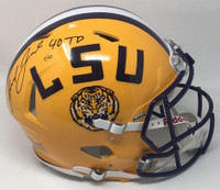 "LEONARD FOURNETTE Autographed ""40 TD"" LSU Speed Authentic Helmet PANINI LE 40"