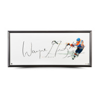 "WAYNE GRETZKY Autographed Edmonton Oilers ""THE SHOW"" 46 X 20 Framed Display UDA"