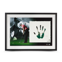 TIGER WOODS Autographed & Inscribed Green & Black Tegata Lithograph UDA LE 50