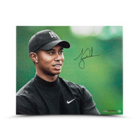 TIGER WOODS Autographed Up Close & Personal 20 x 24 Canvas UDA