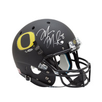 MARCUS MARIOTA Signed University of Oregon Black Schutt Replica Helmet UDA