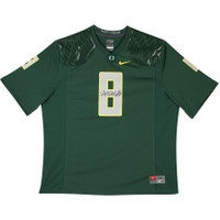 MARCUS MARIOTA Signed University of Oregon Green Game Jersey UDA LE 18