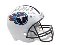 MARCUS MARIOTA Signed & Inscribed Tennessee Titans Schutt Replica Helmet UDA LE 18