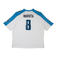 MARCUS MARIOTA Signed Tennessee Titans White Game Jersey UDA