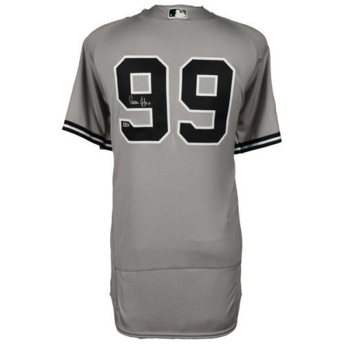 first rate b4a18 0fbf7 AARON JUDGE Autographed Authentic New York Yankees Majestic Gray Jersey  FANATICS