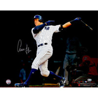 "AARON JUDGE Autographed 16"" x 20"" Home Run Follow Through Photograph FANATICS"