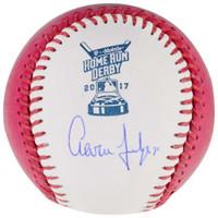 AARON JUDGE Signed Authentic 2017 Home Run Derby Moneyball Baseball FANATICS