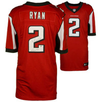 "MATT RYAN Autographed ""Matty Ice"" Authentic Falcons Red Jersey FANATICS"