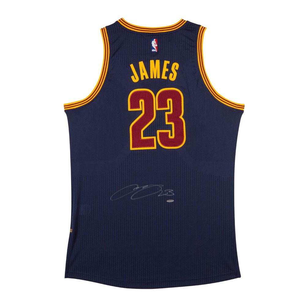 huge discount 072ab 2da7a LEBRON JAMES Autographed Cleveland Cavaliers Alternate Blue Authentic  Adidas Jersey UDA