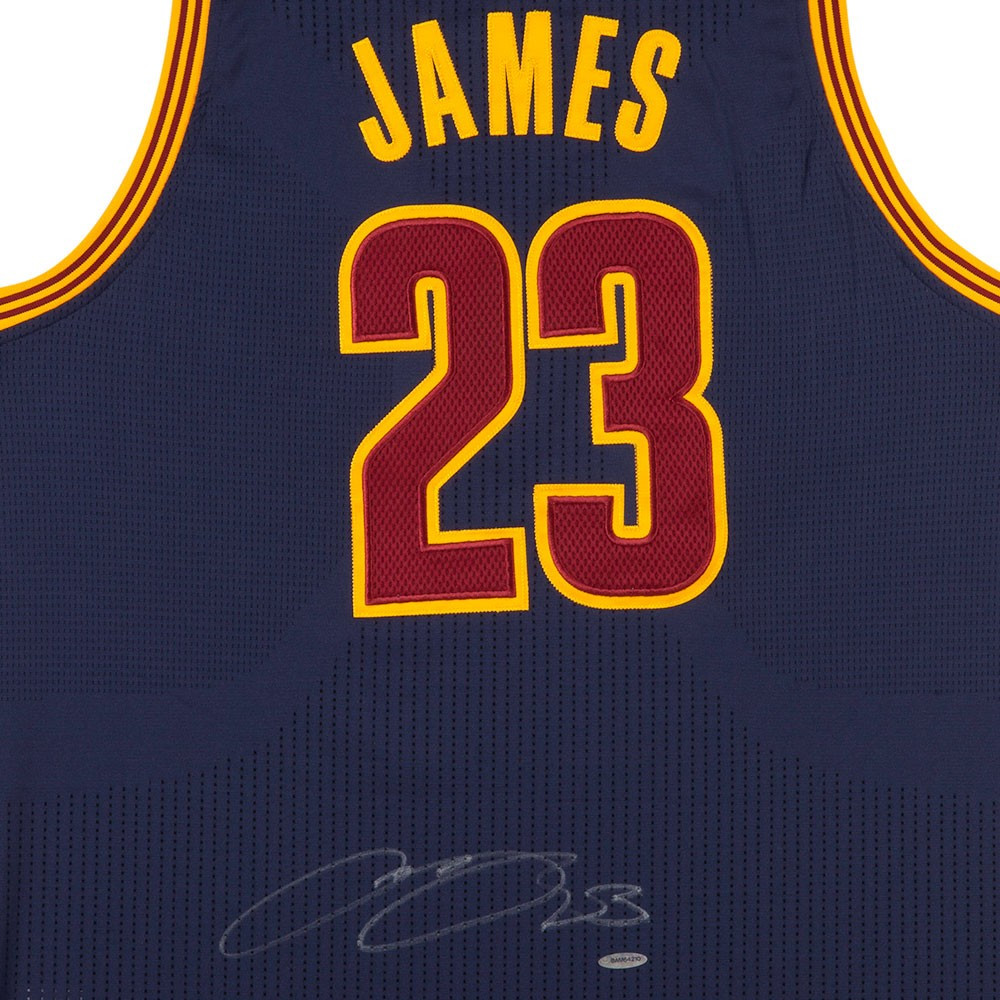 5bd57b9b8d7fa LEBRON JAMES Autographed Cleveland Cavaliers Alternate Blue Authentic  Adidas Jersey UDA. Price   2
