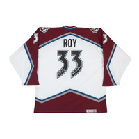 PATRICK ROY Autographed & Inscribed Authentic Heroes of Hockey White Colorado Avalanche Jersey UDA