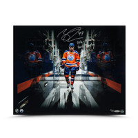 "CONNOR MCDAVID Autographed & Inscribed ""Tunnel Vision"" 16 x 20 UDA LE 97"