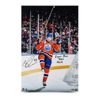 "CONNOR MCDAVID Autographed & Inscribed ""Home Opener Celebration"" 16 x 24 UDA"