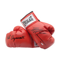 "MIKE TYSON Autographed & Inscribed ""Kid Dynamite"" Red Everlast Boxing Gloves UDA LE 20"