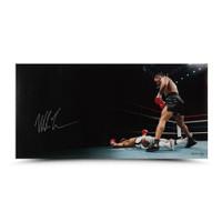 """MIKE TYSON Autographed """"Knockout"""" 36 x 18 UDA LE 50"""
