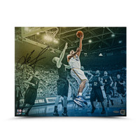 "KEVIN LOVE Autographed ""Westwood Colors"" 20 x 16 UDA"