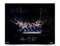 WAYNE GRETZKY Autographed Art of the Slapshot Photo UDA
