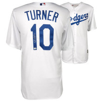 JUSTIN TURNER Autographed Dodgers White Majestic Jersey FANATICS