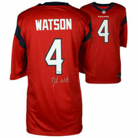 DESHAUN WATSON Autographed Houston Texans Nike Red Jersey FANATICS
