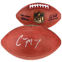 CHRISTIAN McCAFFREY Carolina Panthers Signed Authentic NFL Football FANATICS