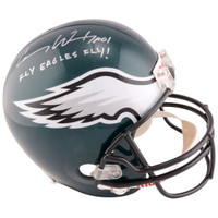 "CARSON WENTZ Philadelphia Eagles Autographed Riddell Replica Helmet with ""Fly Eagles Fly"" Inscription FANATICS"