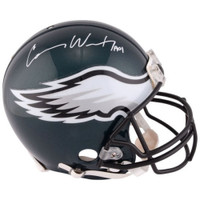 CARSON WENTZ Autographed Philadelphia Eagles Authentic Helmet FANATICS