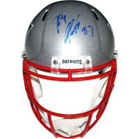 ROB GRONKOWSKI Autographed New England Patriots Speed Replica Helmet STEINER