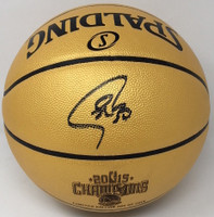 STEPHEN CURRY Autographed 2015 NBA Champions Spalding Basketball FANATICS