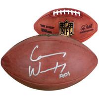 CARSON WENTZ Autographed Philadelphia Eagles Duke Official Football FANATICS