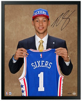 "BEN SIMMONS Autographed ""Draft Day"" Framed 16 x 20 Photograph UDA"