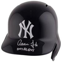 "AARON JUDGE Autographed ""2017 AL ROY"" New York Yankees Batting Helmet FANATICS"