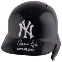 "AARON JUDGE Autographed ""2017 AL ROY"" New York Yankees Batting Helmet FANATICS"