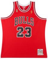 MICHAEL JORDAN Autographed 1997 Bulls Red Authentic Finals Jersey UDA
