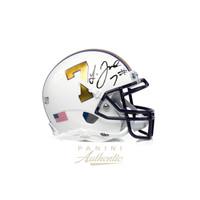 LEONARD FOURNETTE Autographed White LSU #7 Schutt Mini Helmet PANINI