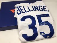 "CODY BELLINGER Autographed ""2017 NL ROY"" Dodgers Home Authentic Jersey FANATICS"