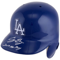 "CODY BELLINGER Signed ""2017 NL ROY"" Los Angeles Dodgers Batting Helmet FANATICS"