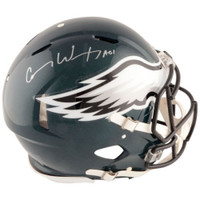 CARSON WENTZ Autographed Philadelphia Eagles Authentic Speed Helmet FANATICS