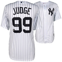 AARON JUDGE New York Yankees Autographed Majestic White Replica Jersey FANATICS