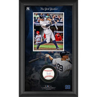AARON JUDGE New York Yankees Framed Autographed Baseball Collage Shadowbox FANATICS