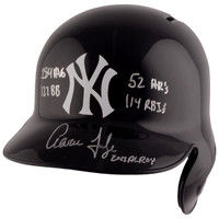 AARON JUDGE New York Yankees Autographed Replica Batting Helmet with Multiple Rookie Year Inscriptions FANATICS LE 99