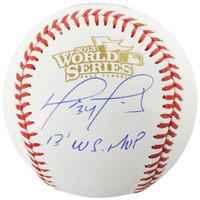 DAVID ORTIZ Boston Red Sox Autographed 2013 World Series Logo Baseball with 2013 WS MVP Inscription FANATICS