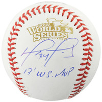 DAVID ORTIZ Boston Red Sox Autographed 2013 World Series Logo Baseball with 2013 WS MVP Inscription FANATICS