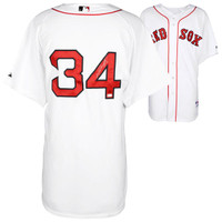 DAVID ORTIZ Boston Red Sox Autographed Majestic Authentic White Jersey FANATICS
