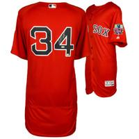 DAVID ORTIZ Boston Red Sox Autographed Majestic Red Authentic Retirement Logo Jersey FANATICS