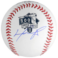 DAVID ORTIZ Boston Red Sox Autographed 500th Home Run Logo Baseball FANATICS
