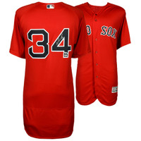 DAVID ORTIZ Boston Red Sox Autographed Majestic Authentic Red Jersey FANATICS